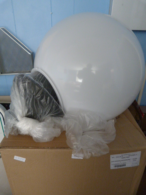 Lot 55 - *Two Fumagalli External Light Globes