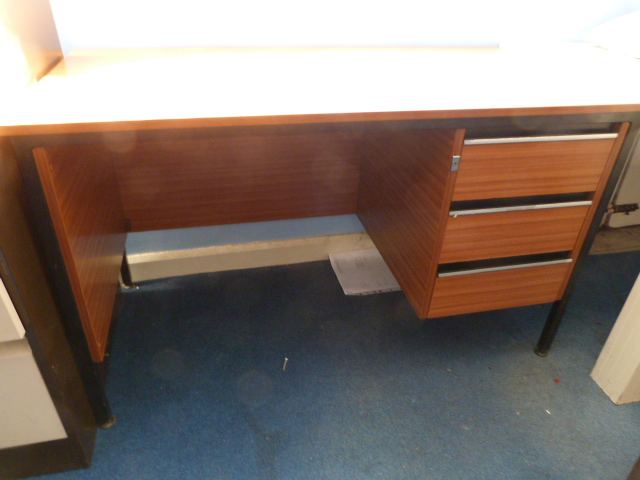 Lot 46 - *Office Desk with Three Drawers