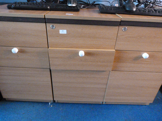 Lot 11 - *Three Sets of Office Drawers