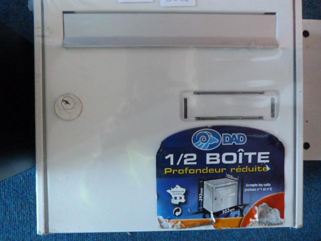Lot 34 - *White Metal Postbox (No Key)