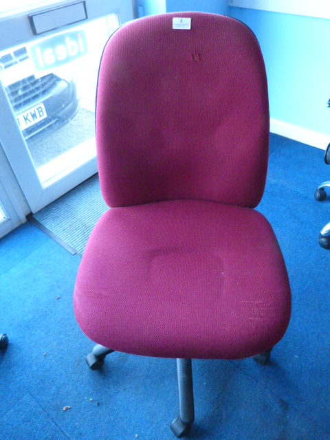 Lot 2 - *Burgundy Upholstered Office Chair