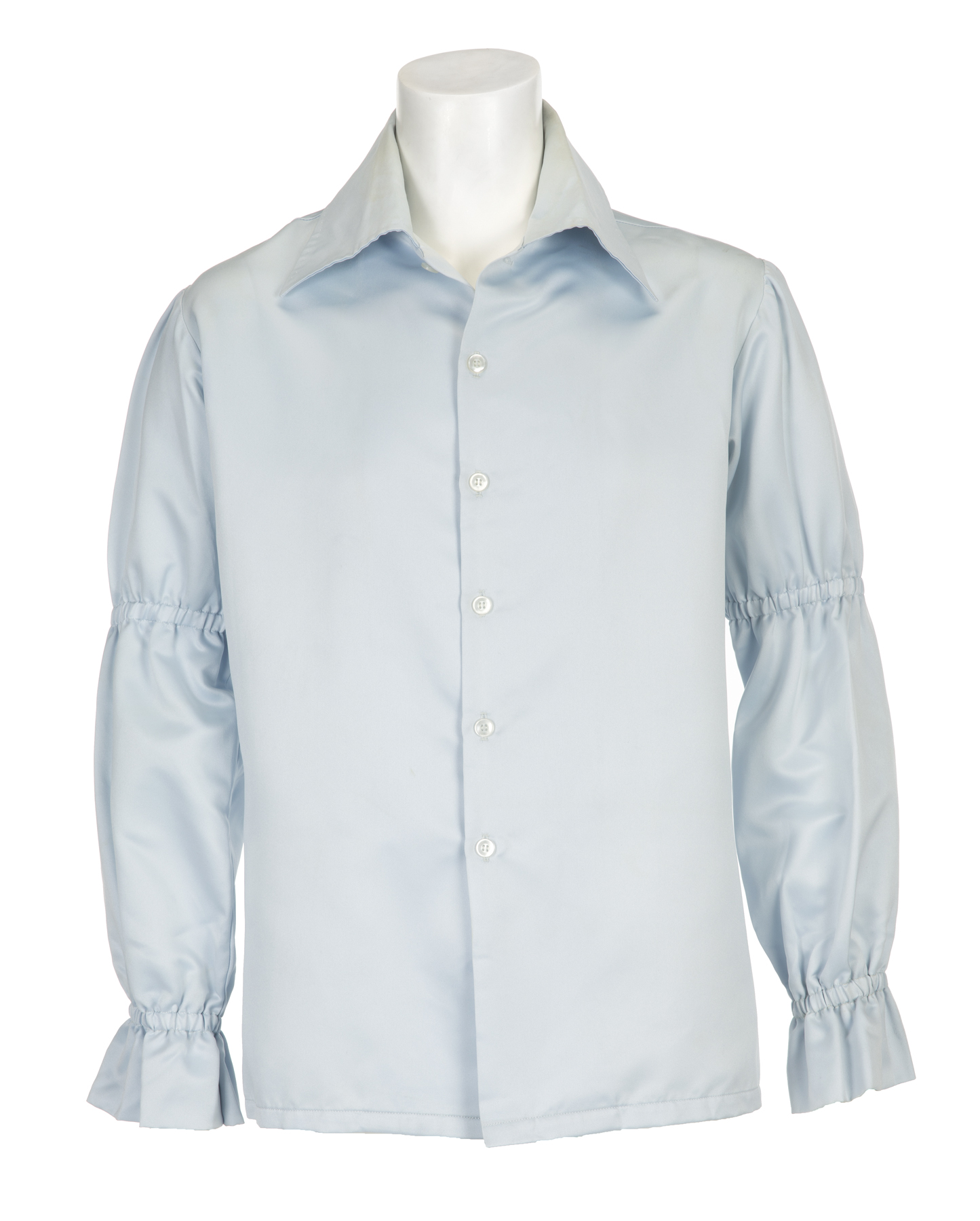 ELVIS PRESLEY POWDER BLUE SHIRT An Elvis Presley worn powder blue ...