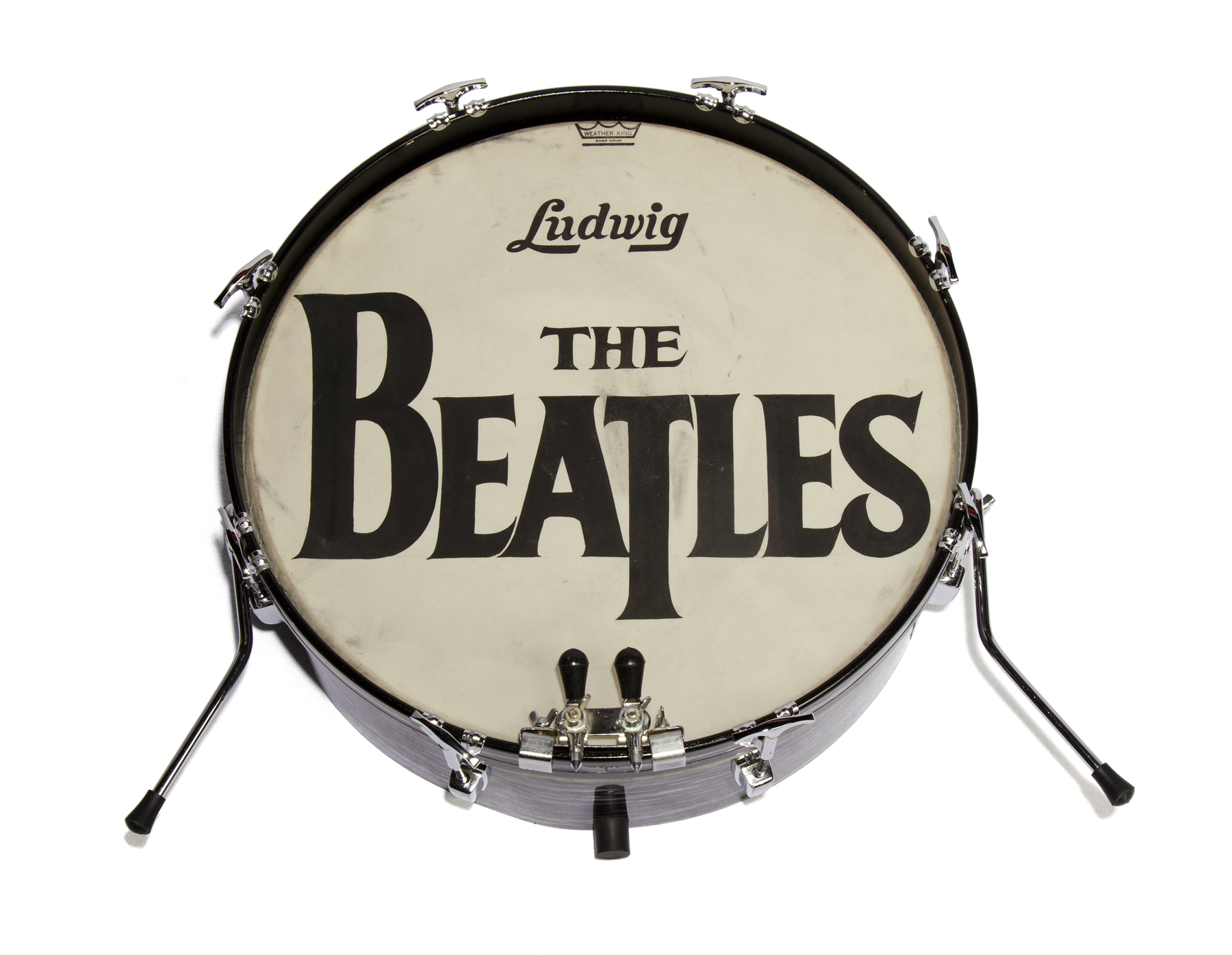 THE BEATLES 1964 ED SULLIVAN SHOW DRUM HEAD The Ludwig Bass Drumhead