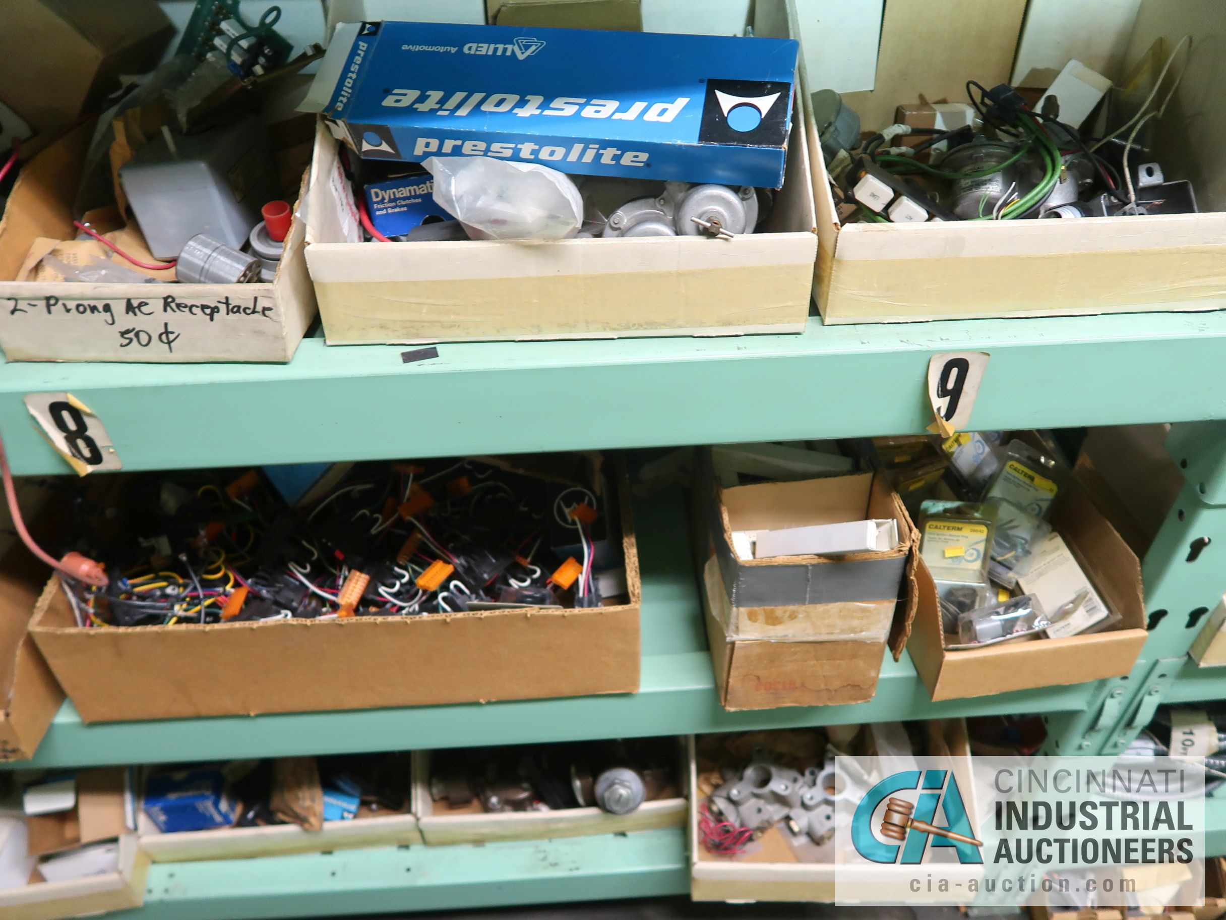 CONTENTS OF (5) RACKS INCLUDING MISCELLANEOUS AUTOMOTIVE PARTS, LIGHTS, FILTERS, ENGINE PARTS, RIMS, - Image 4 of 29