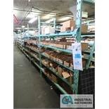 CONTENTS OF (8) RACKS INCLUDING MISCELLANEOUS LED'S, CIRCUIT BOARDS, LED DISPLAY, DLODES, GATES,