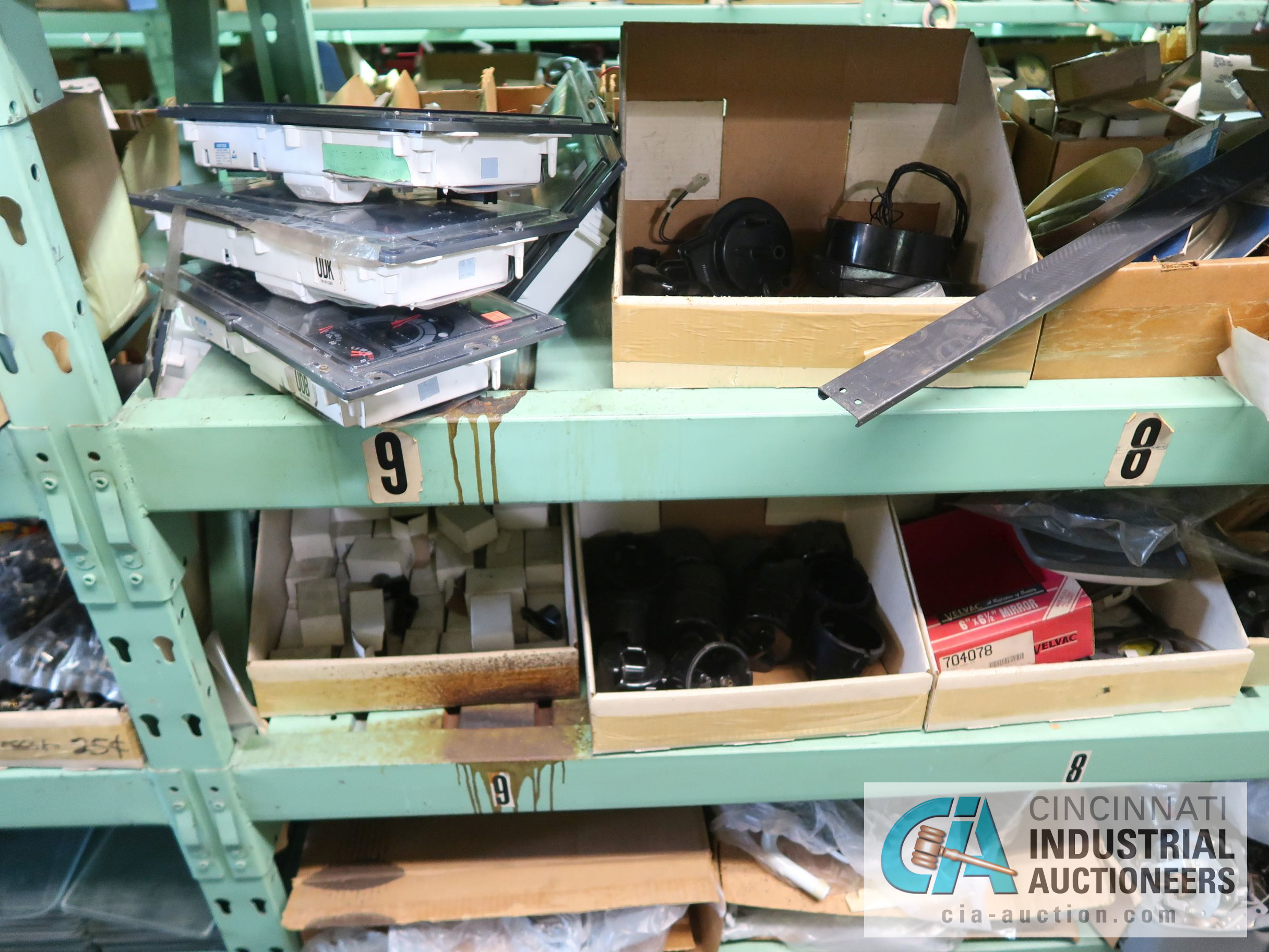 CONTENTS OF (5) RACKS INCLUDING MISCELLANEOUS AUTOMOTIVE PARTS, LIGHTS, FILTERS, ENGINE PARTS, RIMS, - Image 24 of 29