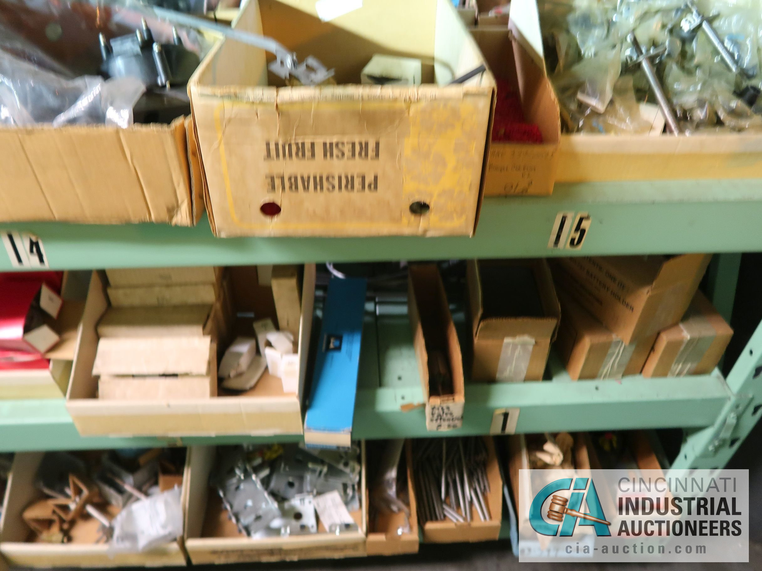 CONTENTS OF (5) RACKS INCLUDING MISCELLANEOUS AUTOMOTIVE PARTS, LIGHTS, FILTERS, ENGINE PARTS, RIMS, - Image 10 of 29