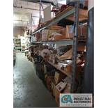 CONTENTS (4) RACKS INCLUDING WALL PLATES, CABLE, RELAYS, MEMORY CARDS, ELECTRONIC HARDWARE **NO