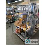 "38"" X 16"" X 60"" STEEL PEG BOARD TYPE DISPLAY RACKS"