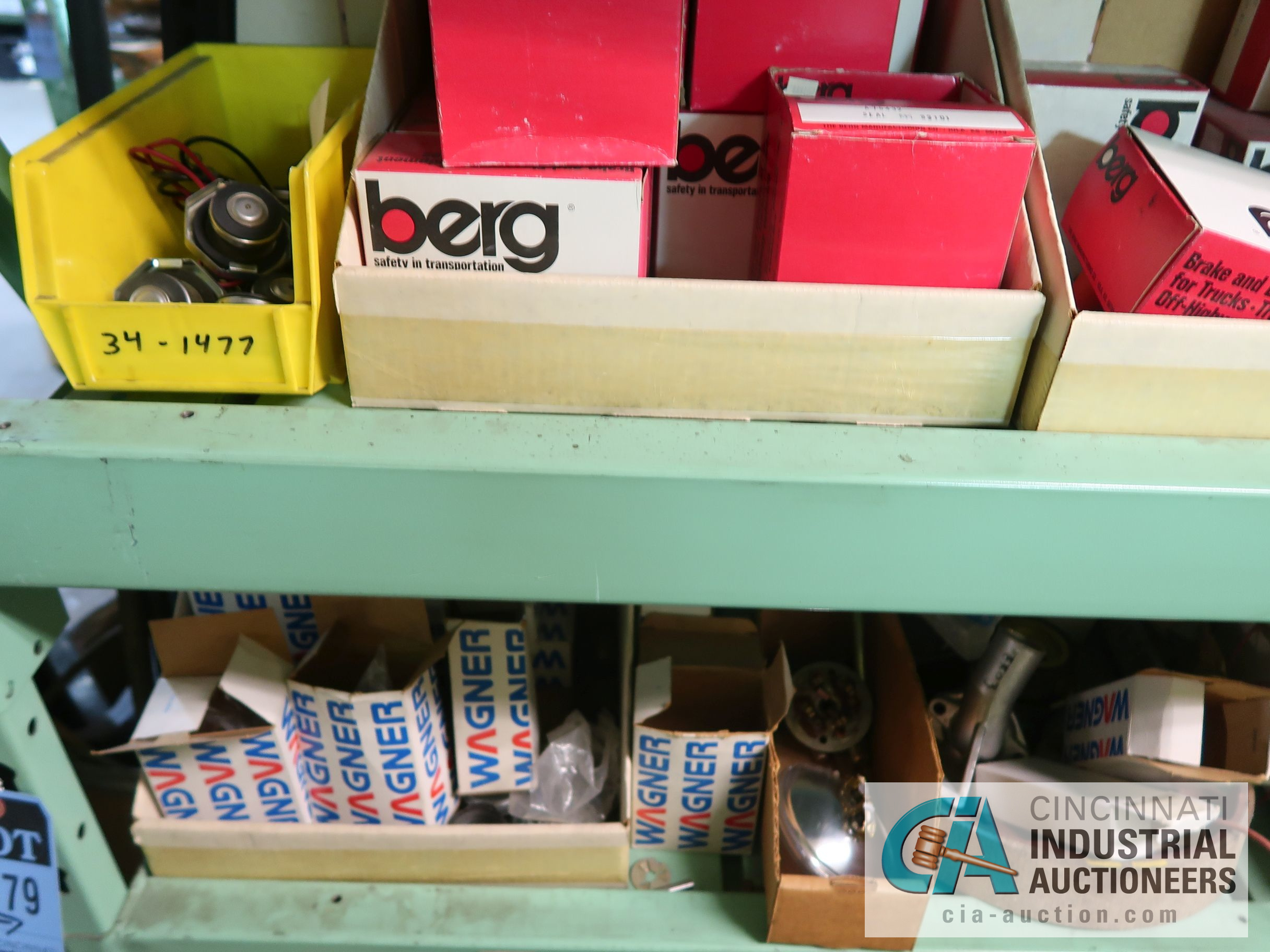 CONTENTS OF (5) RACKS INCLUDING MISCELLANEOUS AUTOMOTIVE PARTS, LIGHTS, FILTERS, ENGINE PARTS, RIMS, - Image 6 of 29