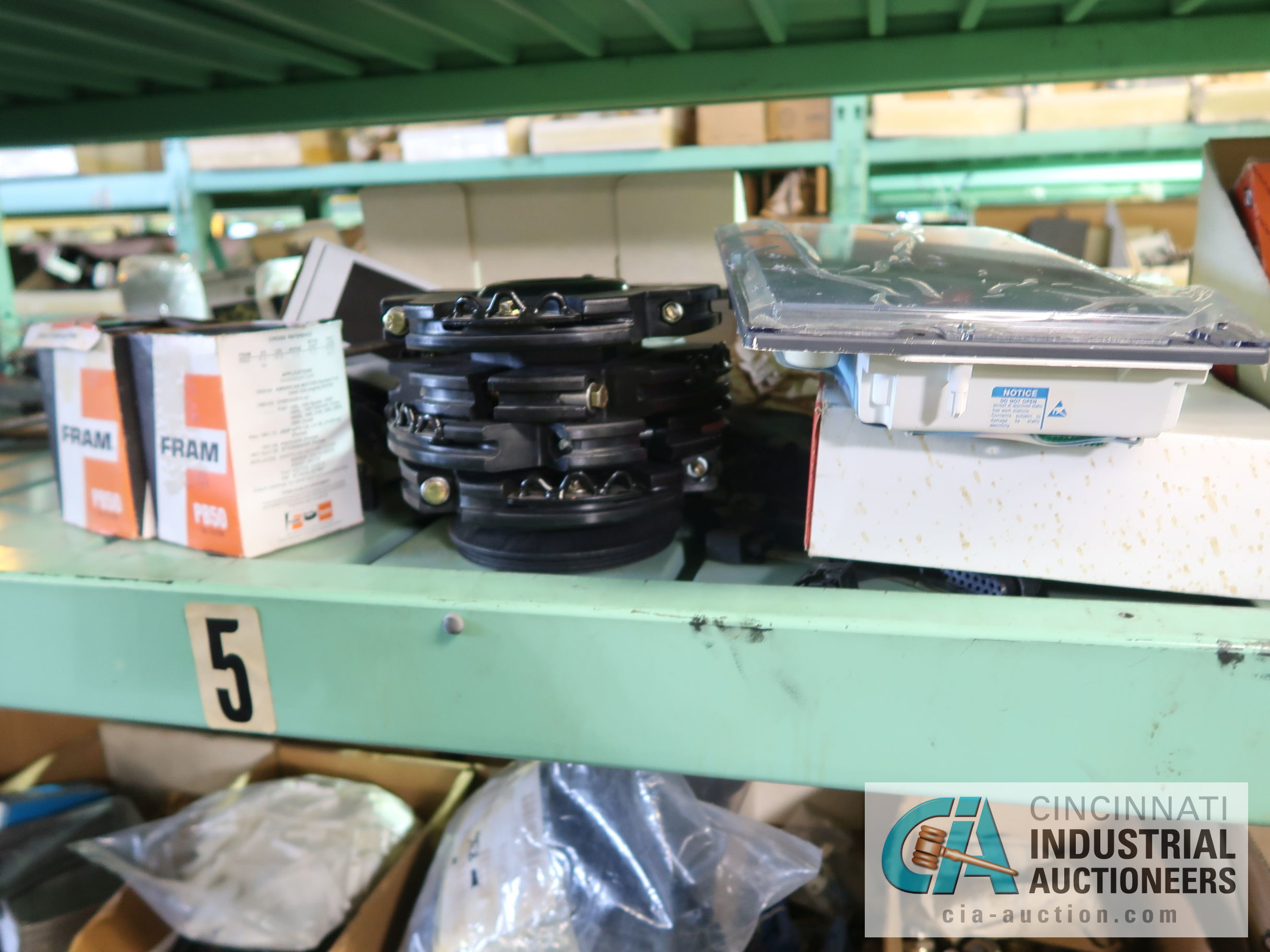 CONTENTS OF (5) RACKS INCLUDING MISCELLANEOUS AUTOMOTIVE PARTS, LIGHTS, FILTERS, ENGINE PARTS, RIMS, - Image 22 of 29
