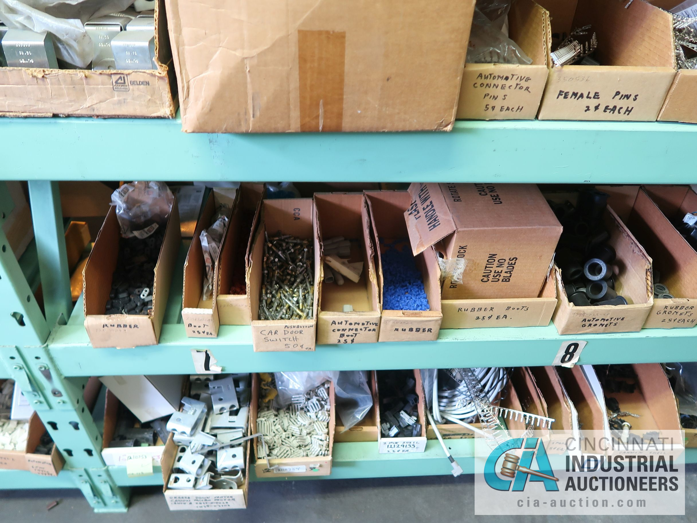 CONTENTS OF (5) RACKS INCLUDING MISCELLANEOUS AUTOMOTIVE PARTS, LIGHTS, FILTERS, ENGINE PARTS, RIMS, - Image 16 of 29