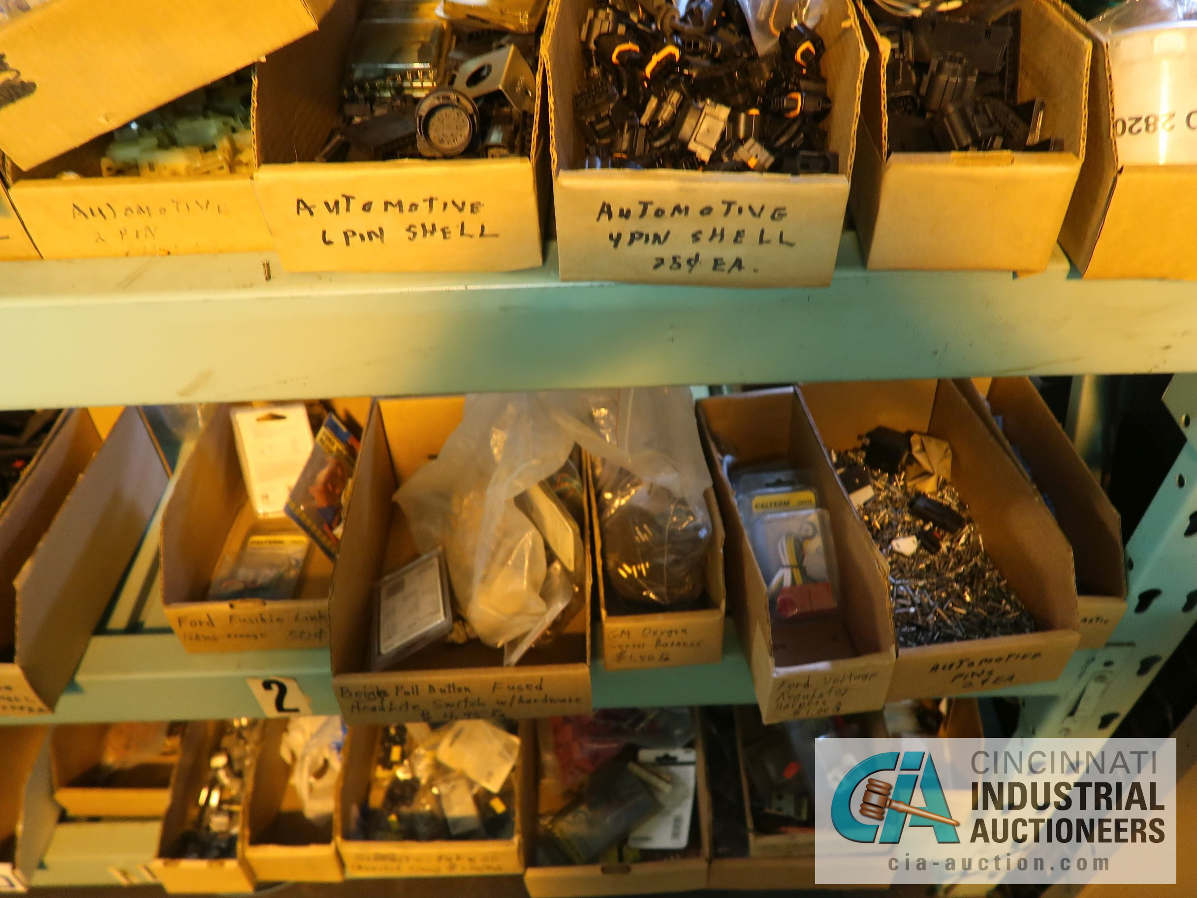CONTENTS OF (5) RACKS INCLUDING MISCELLANEOUS AUTOMOTIVE PARTS, LIGHTS, FILTERS, ENGINE PARTS, RIMS, - Image 14 of 29