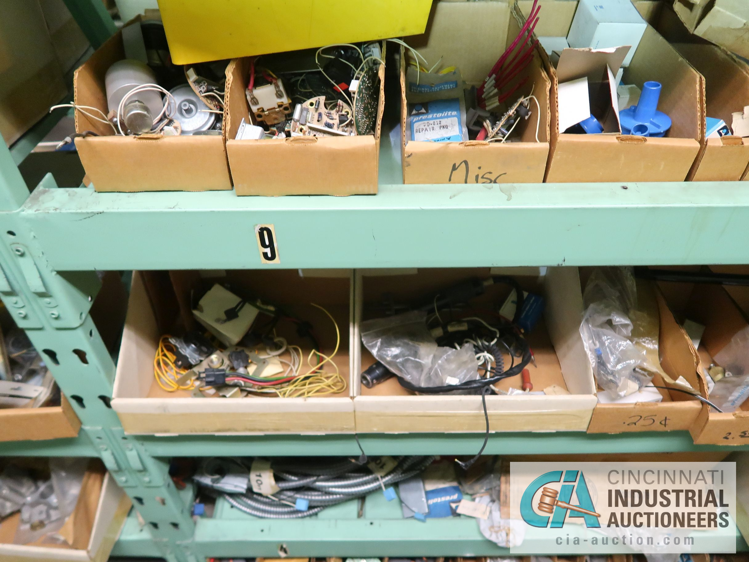 CONTENTS OF (5) RACKS INCLUDING MISCELLANEOUS AUTOMOTIVE PARTS, LIGHTS, FILTERS, ENGINE PARTS, RIMS, - Image 7 of 29