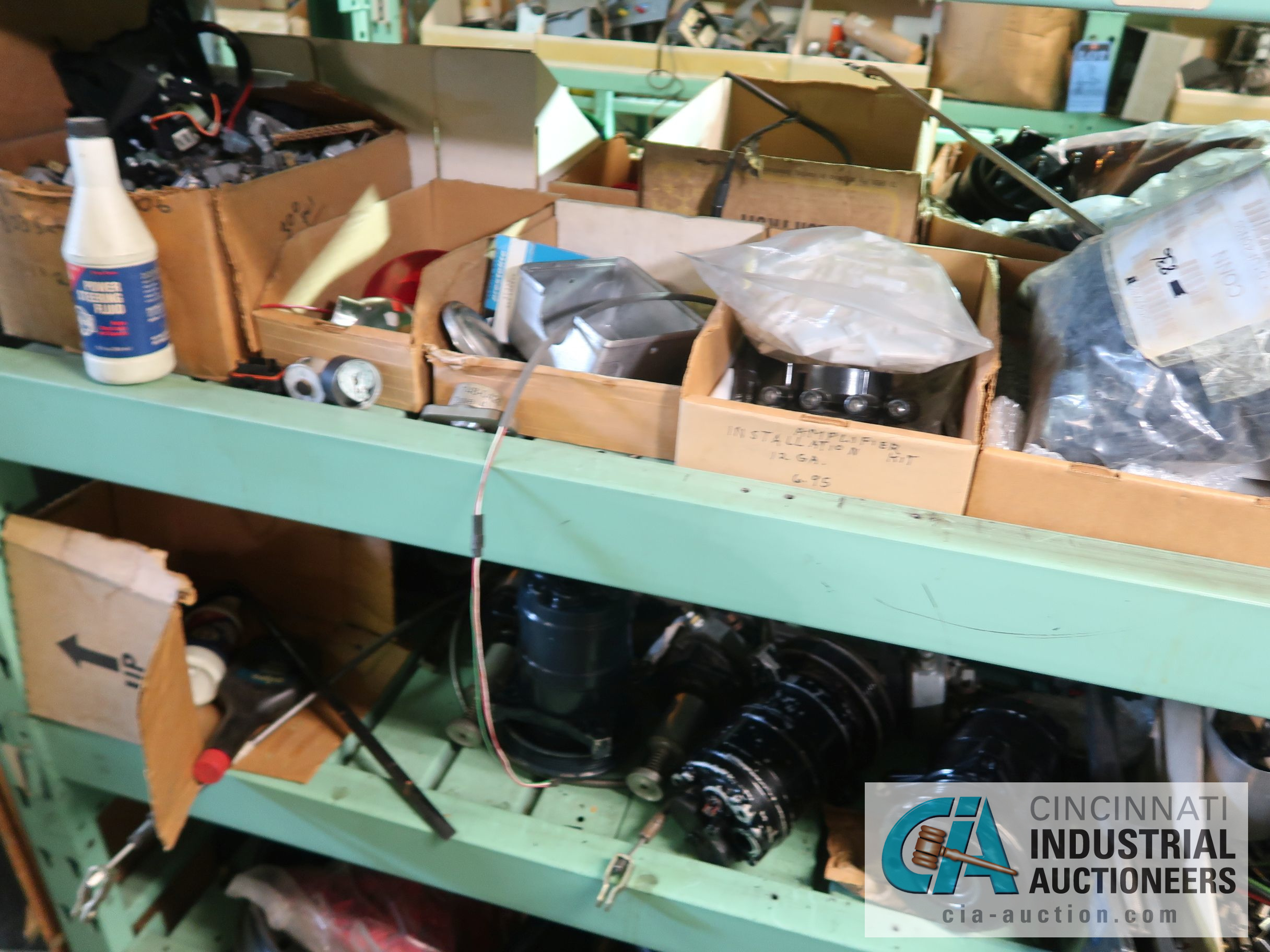 CONTENTS OF (5) RACKS INCLUDING MISCELLANEOUS AUTOMOTIVE PARTS, LIGHTS, FILTERS, ENGINE PARTS, RIMS, - Image 23 of 29
