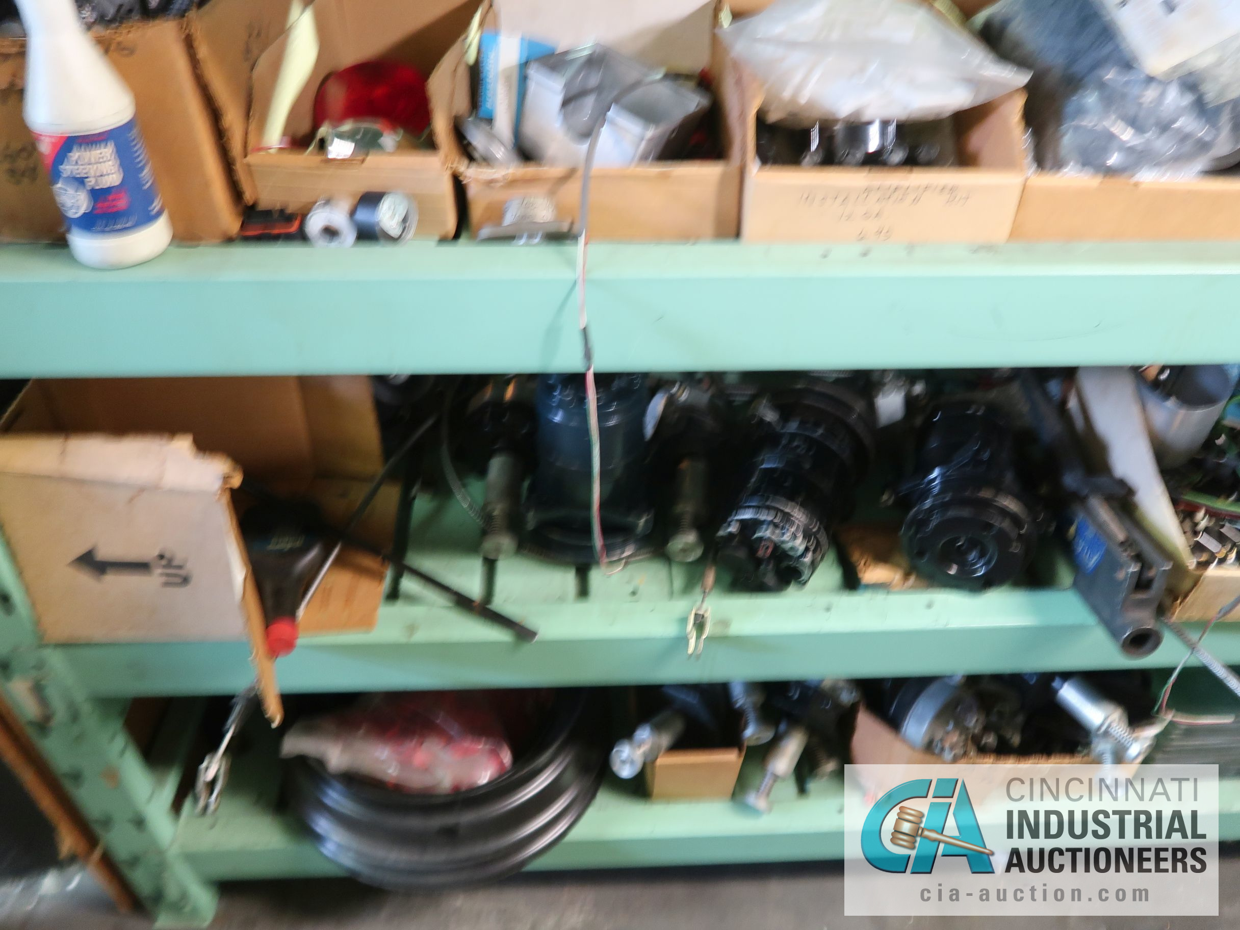 CONTENTS OF (5) RACKS INCLUDING MISCELLANEOUS AUTOMOTIVE PARTS, LIGHTS, FILTERS, ENGINE PARTS, RIMS, - Image 20 of 29