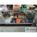 "60"" X 22"" X 29"" LIGHTED GLASS DISPLAY CABINET"