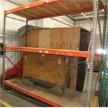 LOT: SECTION PALLET RACKING W/ CONTENTS