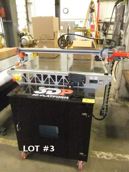 Lot 3 - 3DP 1000 3D PLATFORM PRINTER