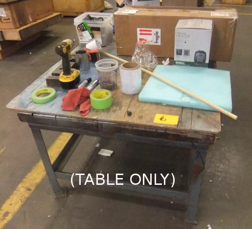 Lot 6 - METAL BASE TABLE