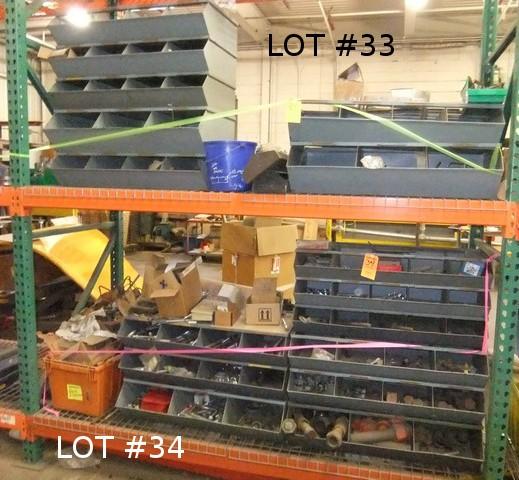 Lot 33 - LOT: BINS W/ CONTENTS - FASTENERS