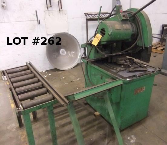 """STONE MACHINERY 20"""" CUT-OFF SAW W/ CONVEYOR, #0183"""
