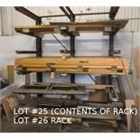LOT: CONTENTS OF RACK (DOORS & TABLES)