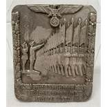 A WWII style German Army Veterans Plaque for attending a march in Kassel.