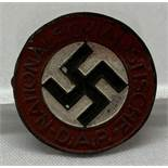 A German WWII style late war ersatz N.S.D.A.P Party badge.
