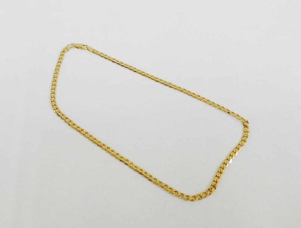 Lot 41 - 9 carat gold curb link necklace