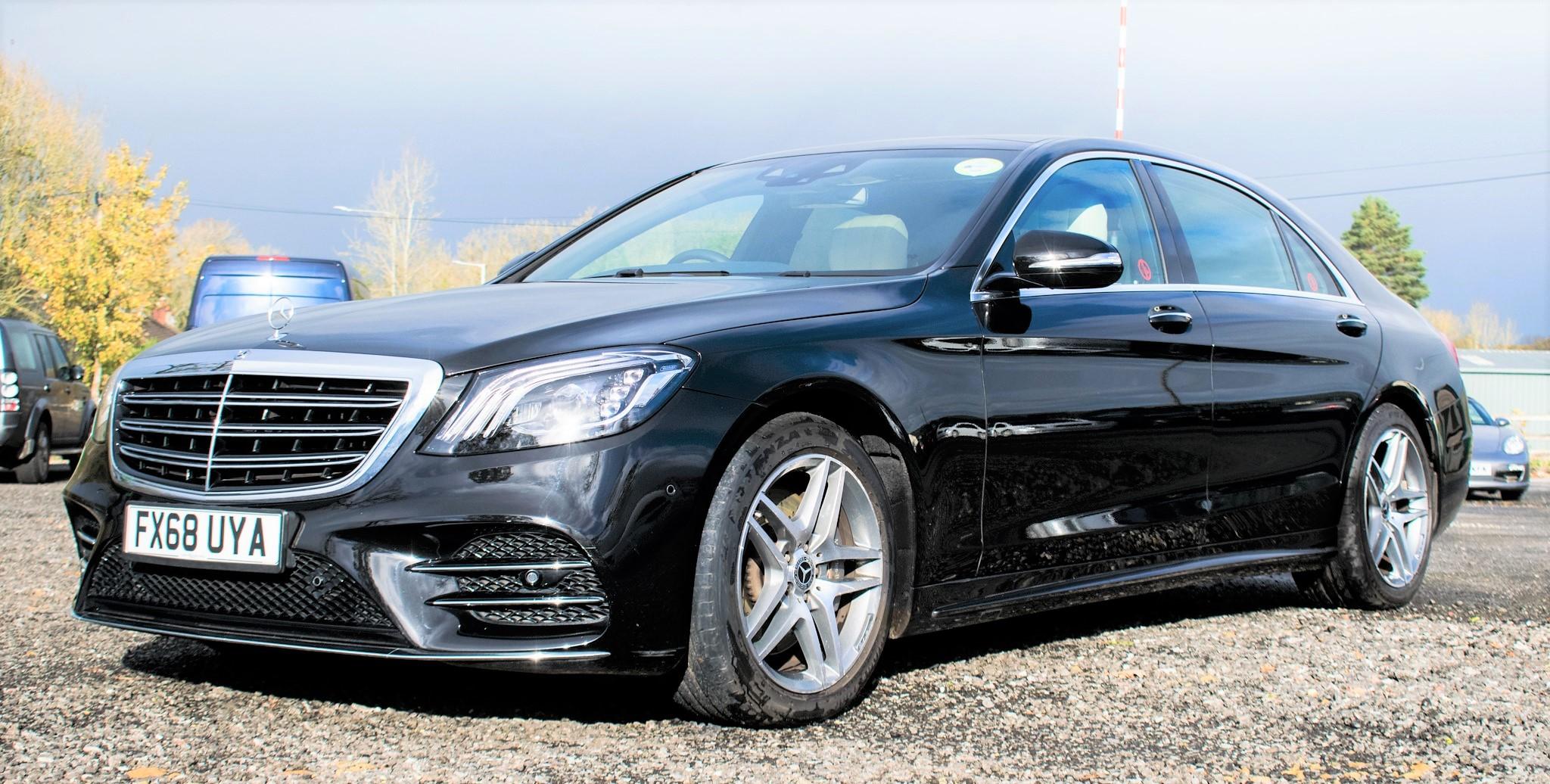 Mercedes Benz S450 L AMG Line Executive auto petrol 4 door saloon car Registration Number: FX68