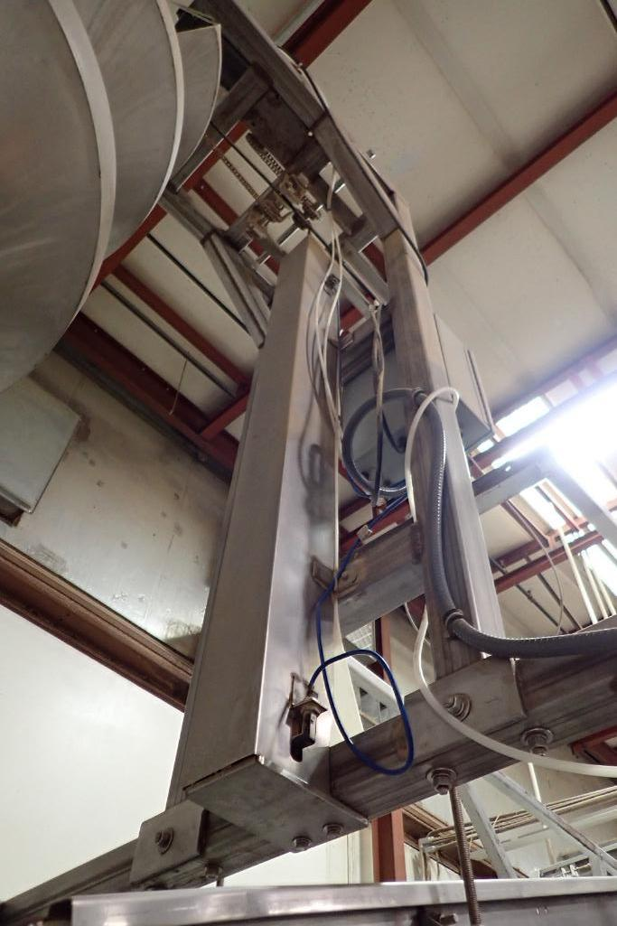 SS spiral decline, 10 ft. tall x 24 in. dia., with SS frame,. **Rigging Fee: $400** - Image 5 of 11