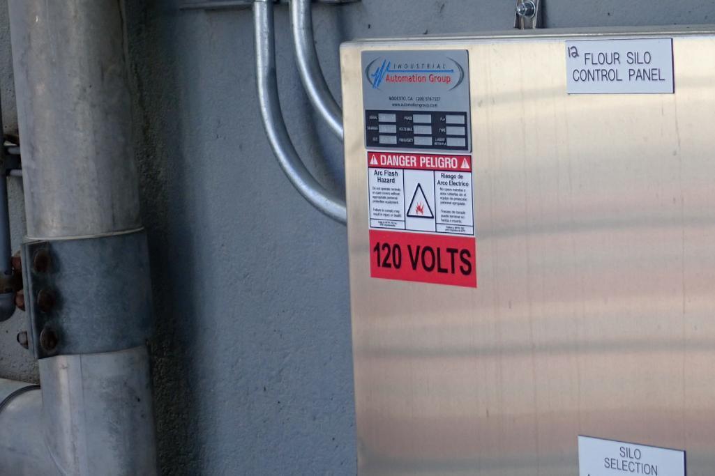 Industrial Automation SS control panel, w/ Allen Bradley Compact Logix L16ER PLC, for flour silos. * - Image 7 of 8