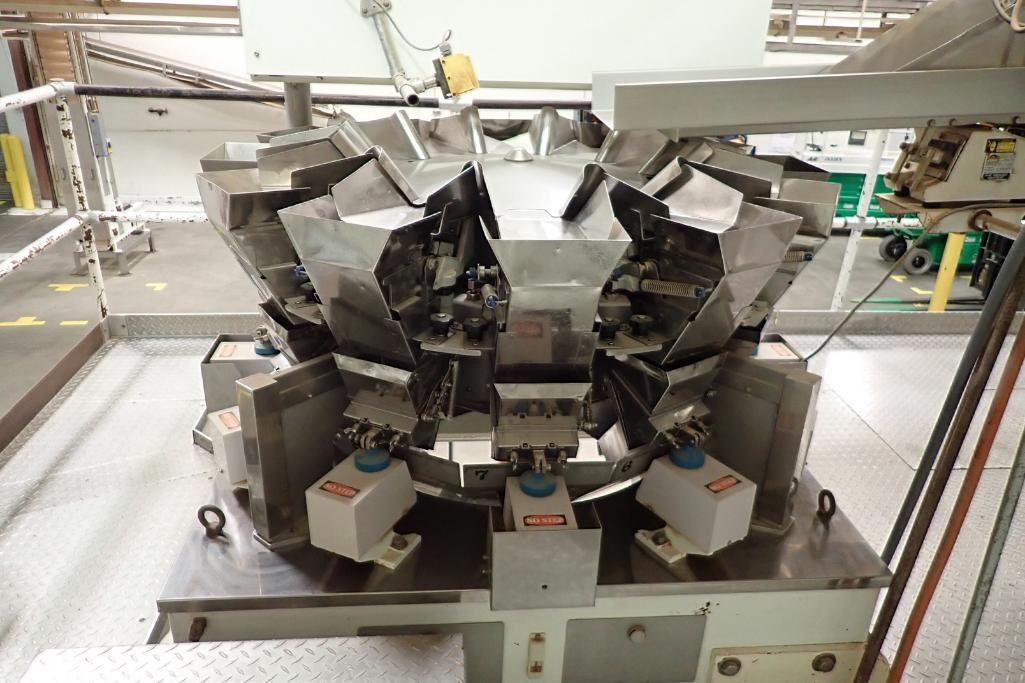 1984 Yamato 12-head scale, Model: ADW-221R, SN 83389, max 500 grams/min. 14 grams. **Rigging Fee: $4 - Image 7 of 11