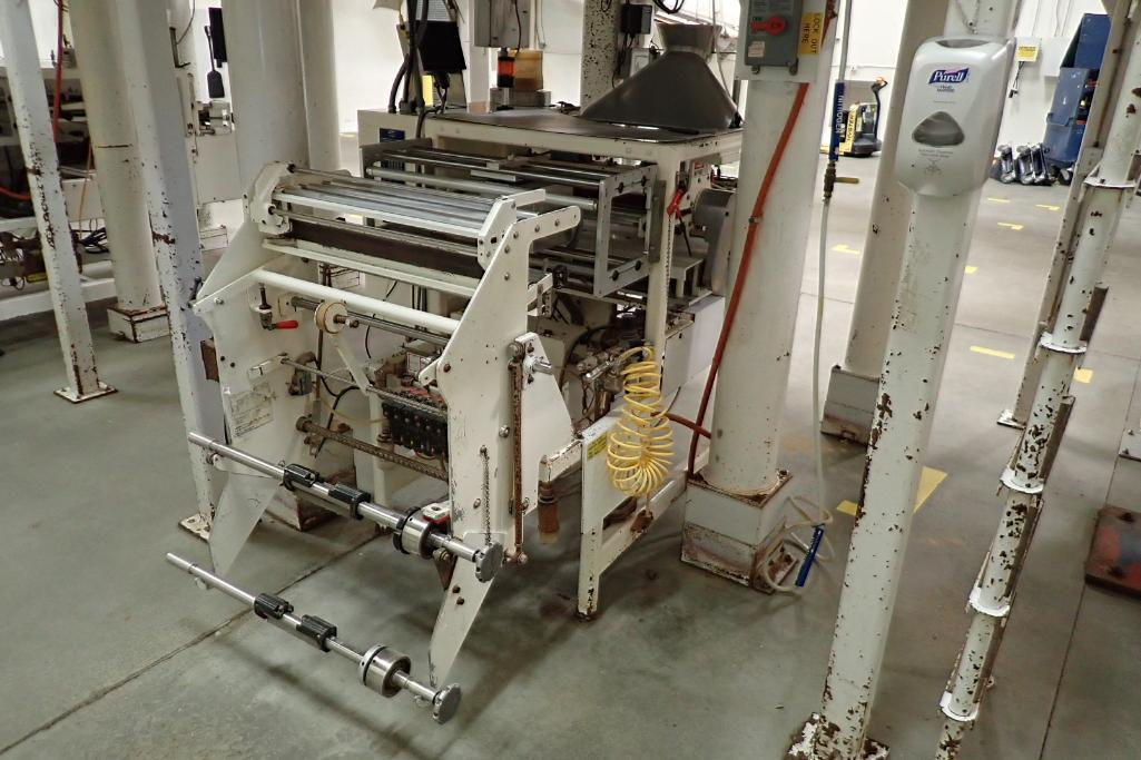 1984 Hayssen Bagger, Model S.F, SN: U16721, 12 in. jaw, 20 in. web, making 15 oz. bags. **Rigging Fe - Image 13 of 16