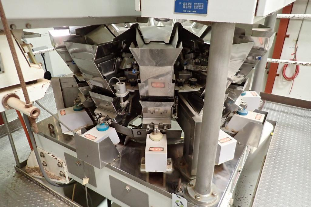 1984 Yamato 12-head scale, Model: ADW-221R, SN 83389, max 500 grams/min. 14 grams. **Rigging Fee: $4 - Image 3 of 11