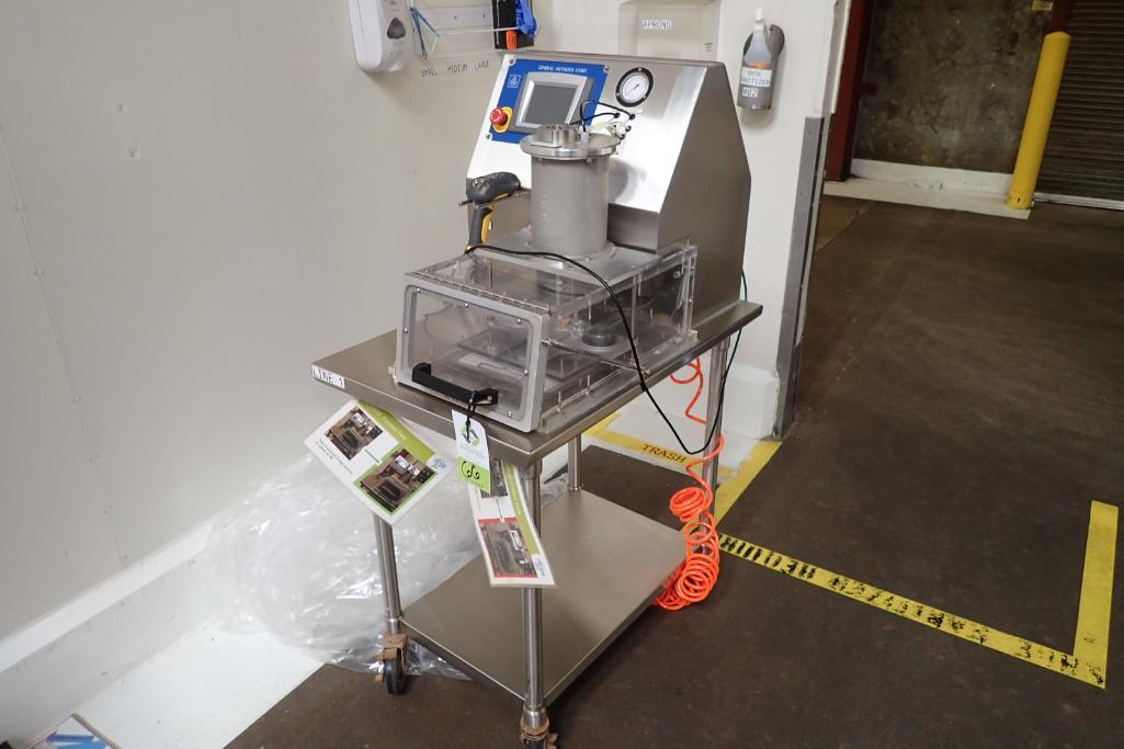Gemco vacuum burst tester, Model SIV III, SN: 263, on SS cart. **Rigging Fee: $75**