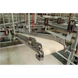 SS belt conveyor, 151 in. long x 12 in. wide, suspended from scale frame. **Rigging Fee: $300**