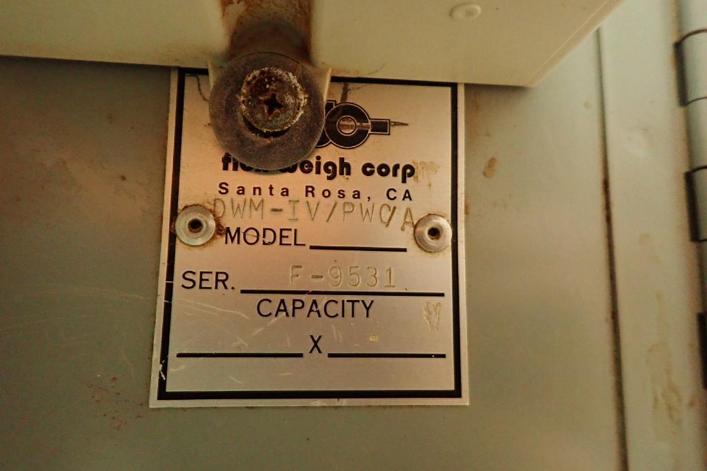 Best Weigh scale, Model DWM-IV/PWC/A, SN F-9531, capacity 200 lbs. x . 05, 19 in. long x 13 in. wide - Image 6 of 6