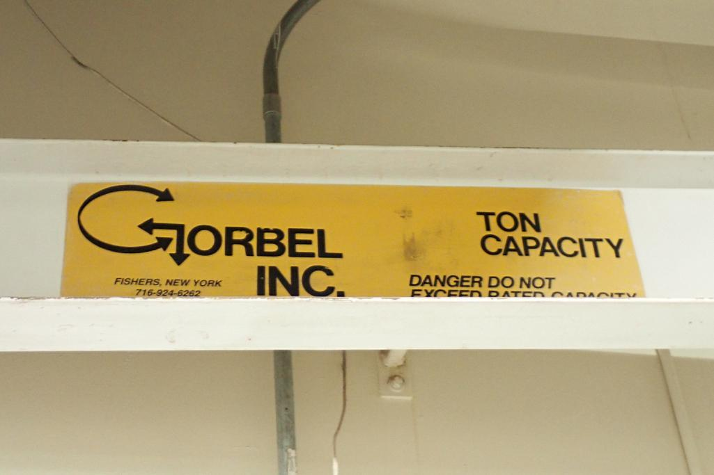 Gorbel 13 ft. wall mount crane, 2,000 lb. capacity with Dayton electric chain hoist.. **Rigging Fee: - Image 5 of 5