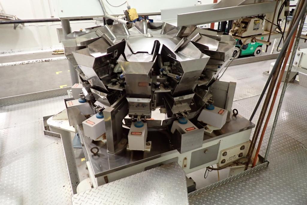 1984 Yamato 12-head scale, Model: ADW-221R, SN 83389, max 500 grams/min. 14 grams. **Rigging Fee: $4 - Image 6 of 11