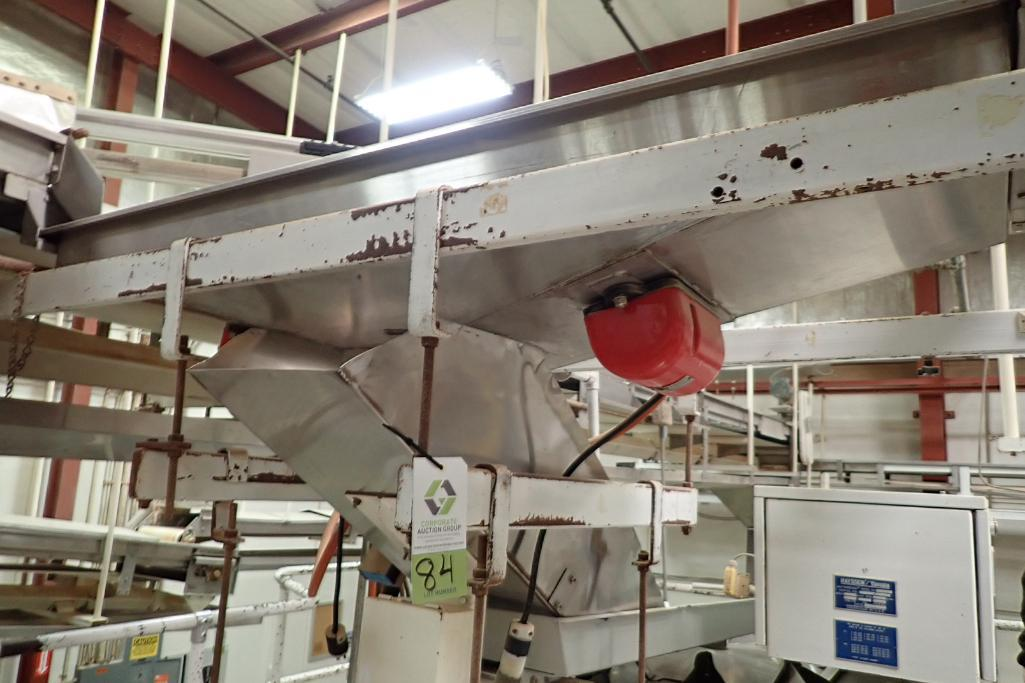 Eriez vibratory feeder into scale (C), 6 ft. long x 12 in. wide. **Rigging Fee: $250** - Image 2 of 8