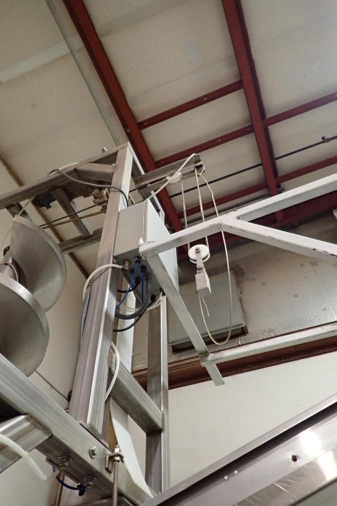 SS spiral decline, 10 ft. tall x 24 in. dia., with SS frame,. **Rigging Fee: $400** - Image 7 of 11