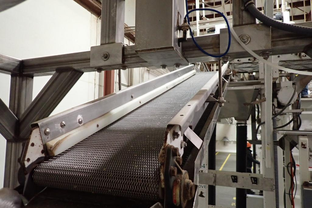 Allen SS hopper vibratory feeder system, mild steel frame, for filling bag in box. **Rigging Fee: $4 - Image 6 of 12