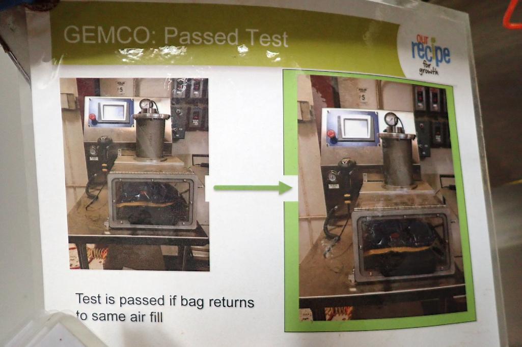 Gemco vacuum burst tester, Model SIV III, SN: 263, on SS cart. **Rigging Fee: $75** - Image 8 of 8