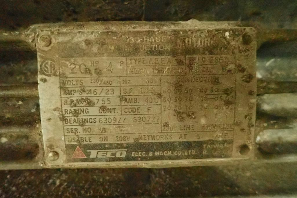 20 HP Roots blower package, Model: 65 URAI, SN: 0007911024. **Rigging Fee: $250** - Image 4 of 6