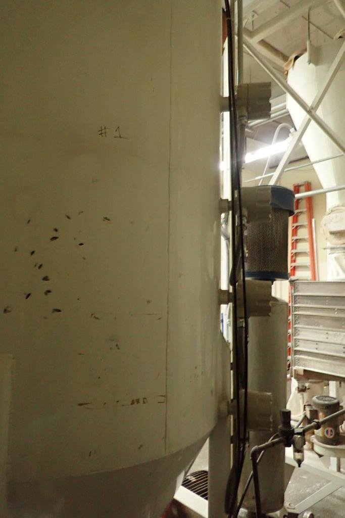 Use bin 10 ft. tall x 48 in. dia., with 10 in. rotary valve, (#1). **Rigging Fee: $600** - Image 7 of 7
