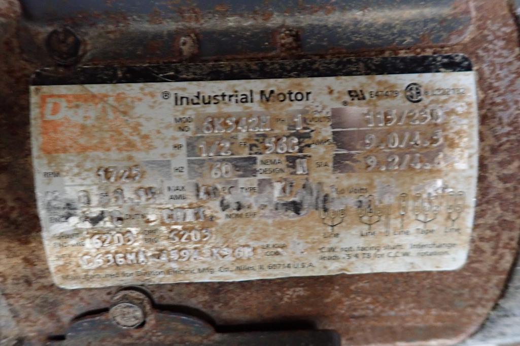 Mild Steel white cleated interlock belt conveyor, 8 ft. long x 12 in. wide, 42 in. discharge, on cas - Image 4 of 6