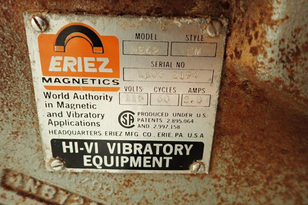 Allen SS hopper vibratory feeder system, mild steel frame, for filling bag in box. **Rigging Fee: $4 - Image 12 of 12