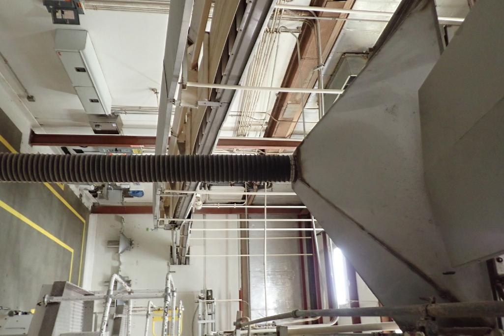 Wire belt conveyor, 48 in. long x 18 in. wide, mild steel frame, suspended from ceiling. **Rigging F - Image 5 of 5